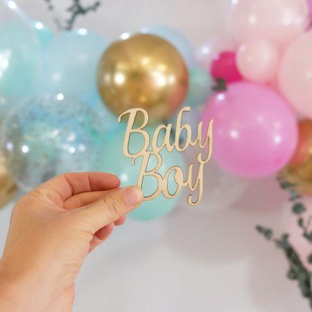 """4 décorations en bois """"Baby..."""