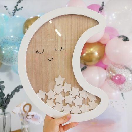 Livre d'or lune en bois...