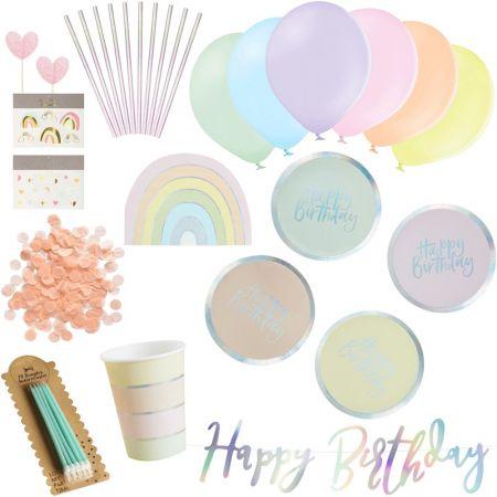 Box anniversaire pastel