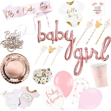 Box baby shower fille