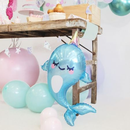 "Ballon mylar ""narval"" - 87 cm"