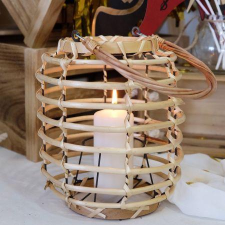 Lanterne en bois - 26 cm