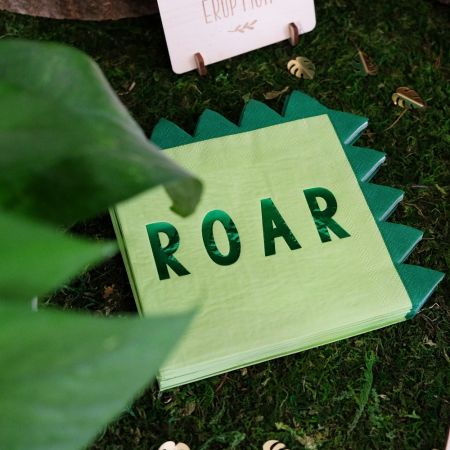 serviettes roar dinosaure