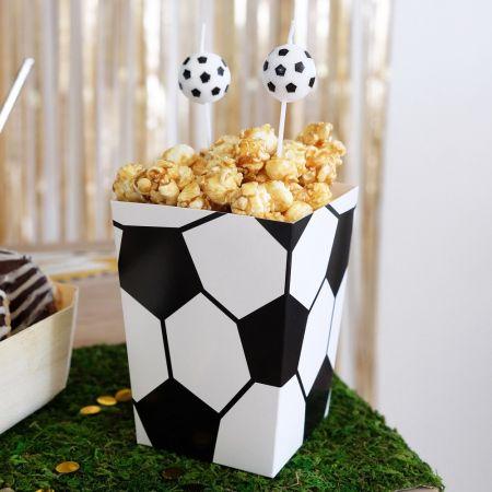 "6 pots à popcorn ""football"""