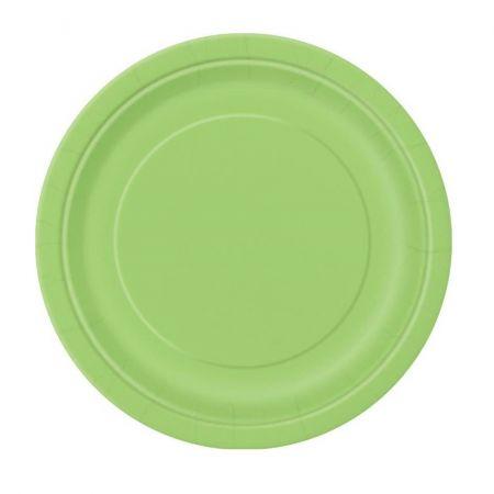 8 assiettes vertes - 23 cm