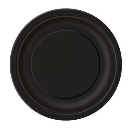 8 assiettes noires - 23 cm