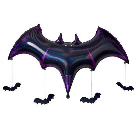 Ballon mylar noir et violet...