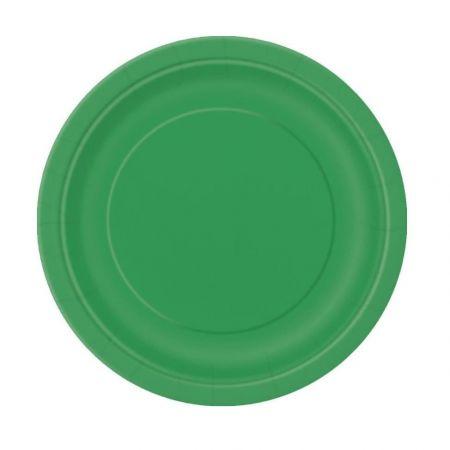 8 assiettes verte jade - 23 cm