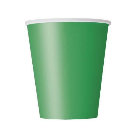 8 gobelets vert jade
