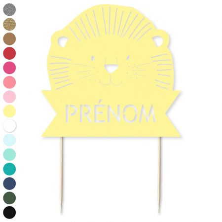 "Cake topper en papier personnalisable ""lion"""