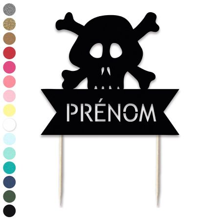 "Cake topper en papier personnalisable ""pirate"""