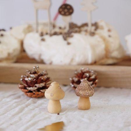 4 champignons en bois à...