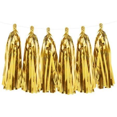 12 tassel dorées