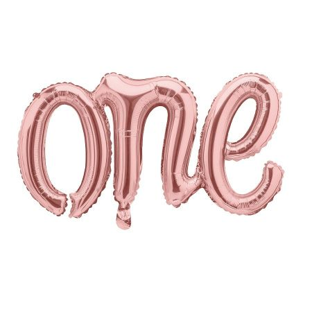 "Ballon rose gold ""one"""