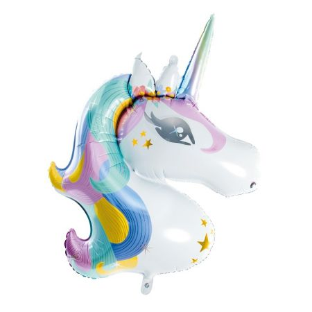 """Ballon mylar """"licorne"""" - 90 cm"""