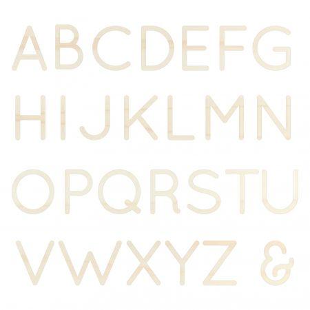 Lettre en bois alphabet -...