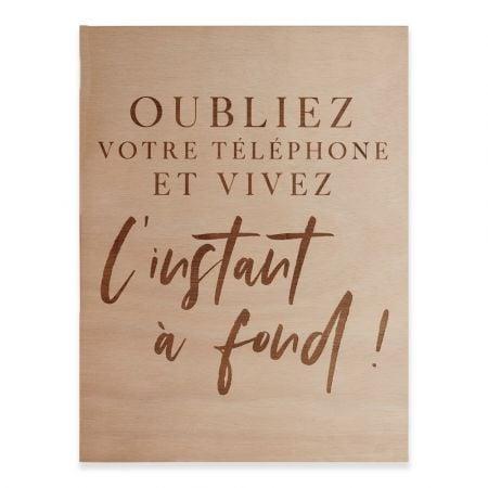 """Panneau en bois """"instant"""" -..."""