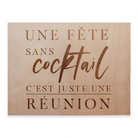 """Panneau en bois """"cocktail""""..."""