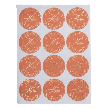 24 stickers merci...