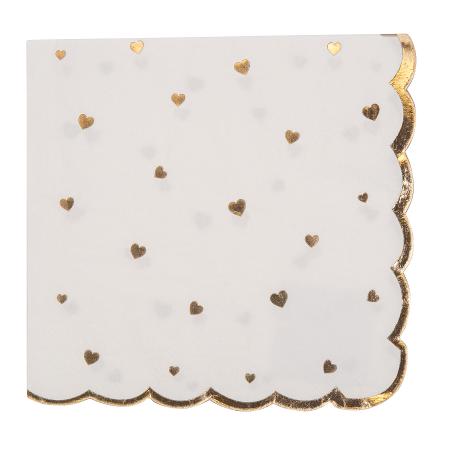 """16 serviettes """"petits cœurs..."""