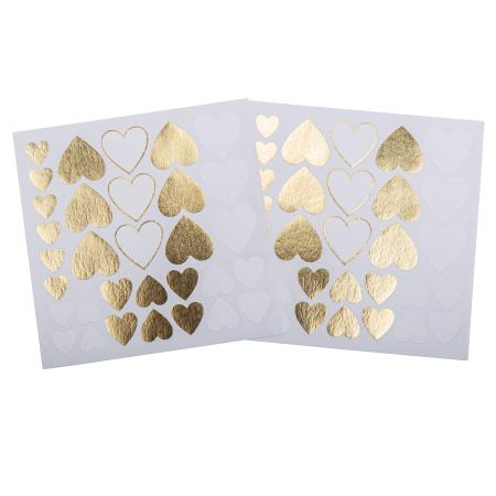 """64 stickers """"petits cœurs..."""