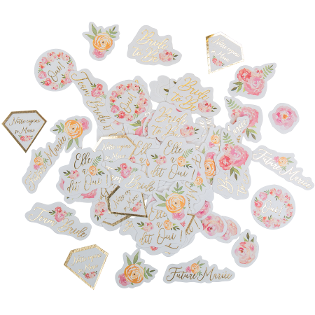 """100 confettis """"EVJF fleuri"""""""