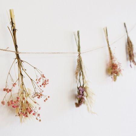 Guirlande de fleurs séchées...