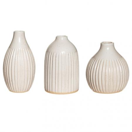 3 vases en grès - 9 cm