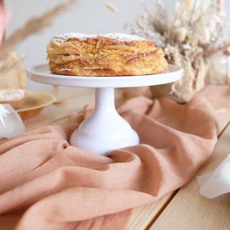 Support blanc à gâteaux - 23,50 cm