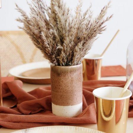 "Vase ""poterie marron"" - 12 cm"