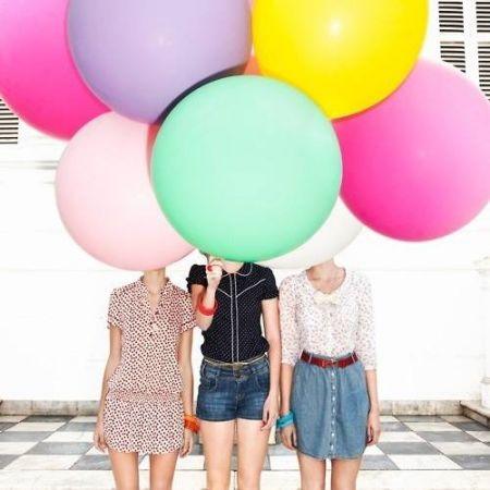 Ballon géant mauve - 90cm