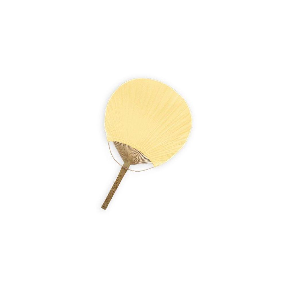 Eventail en papier crème Fidji