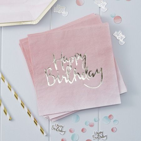 20 serviettes watercolor rose