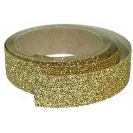 2 m masking tape glitter doré - 15 mm