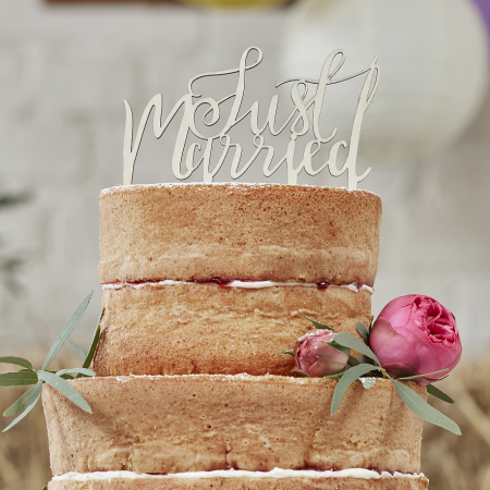 Cake topper en bois JUST MARRIED