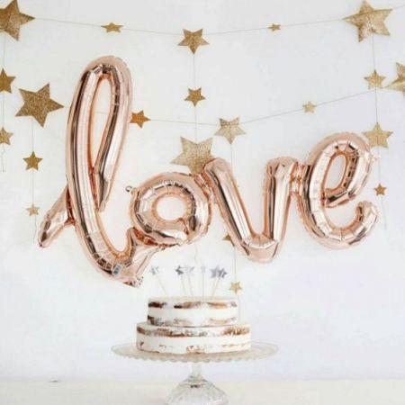 Ballons 40 cm LOVE - 4 pièces