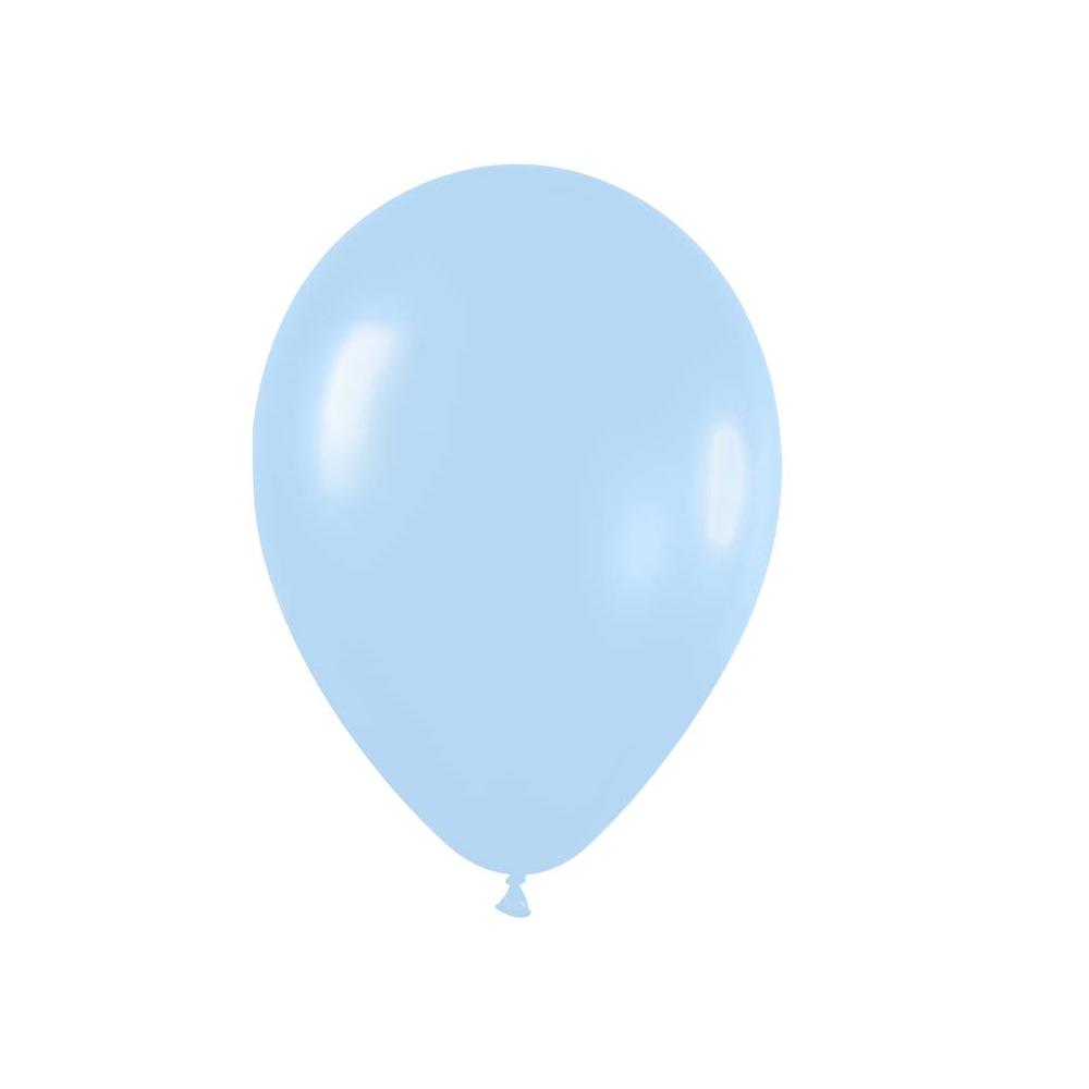 Ballon bleu pastel -  28 cm