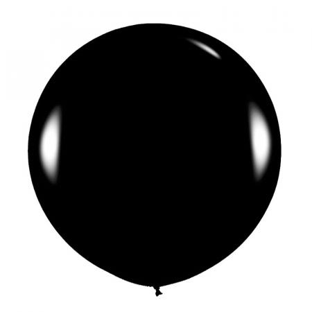 Ballon noir -  91 cm
