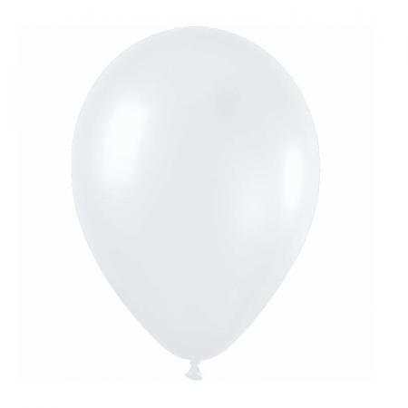 Ballon blanc satin -  28 cm