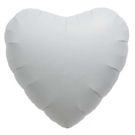 Ballon coeur  blanc- 46 cm