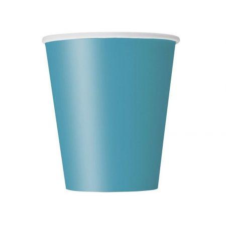8 gobelets bleu turquoise
