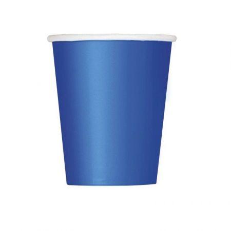 8 gobelets bleu foncé