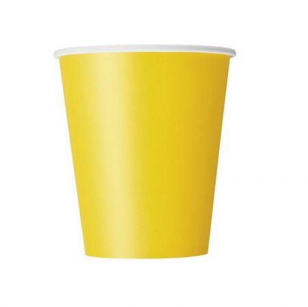 8 gobelets jaune