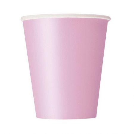 8 gobelets rose pastel