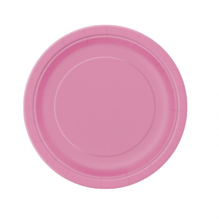 8 assiettes rose fushia