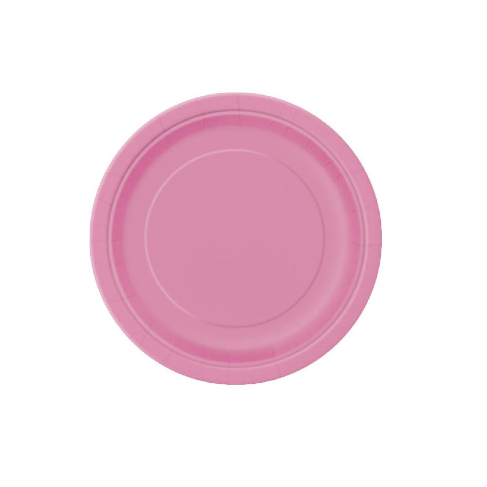 8 assiettes rose fushia