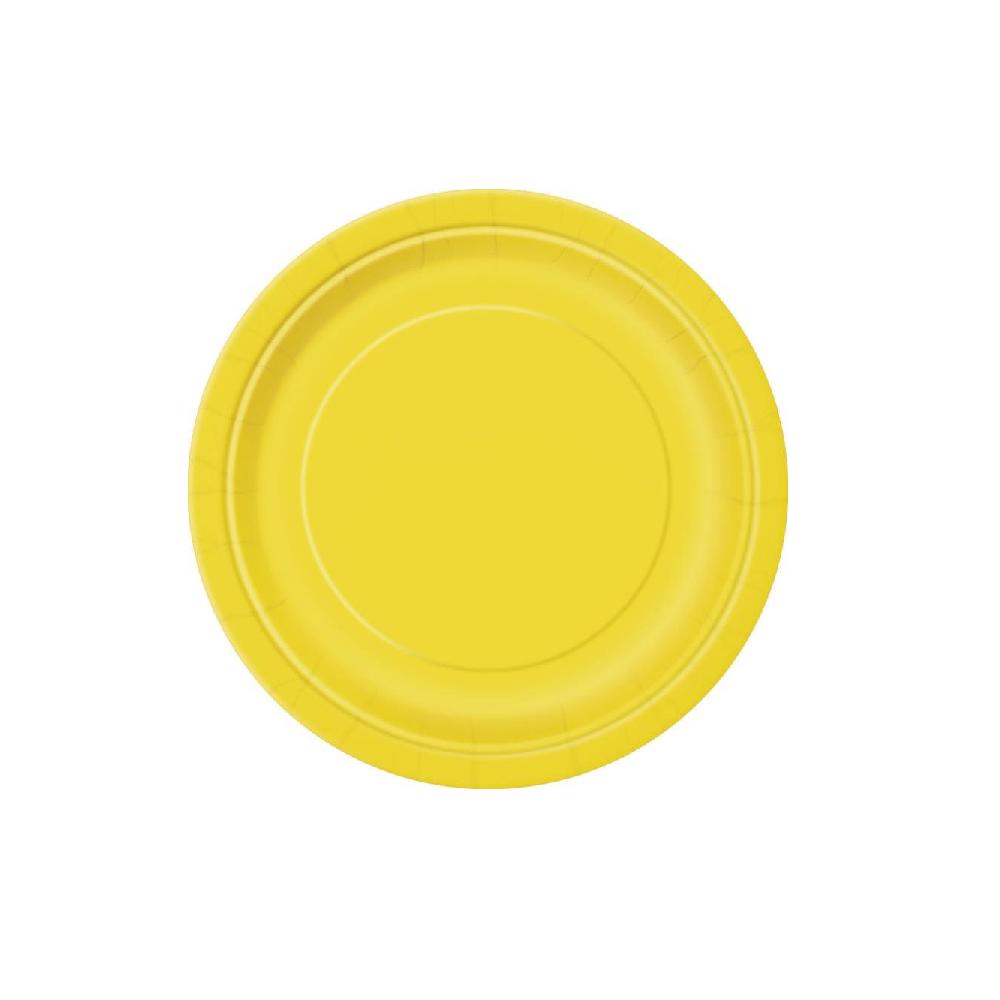 8 assiettes jaune