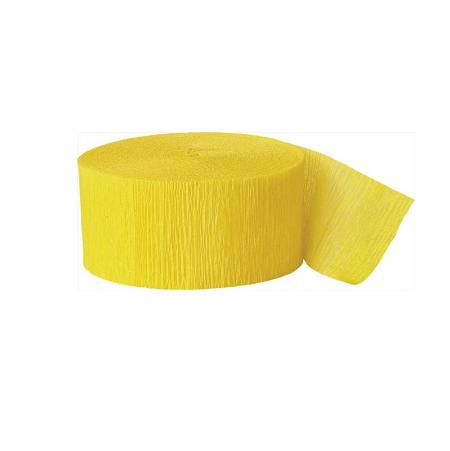 24 m ruban papier crépon jaune