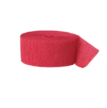 24 m ruban papier crépon rouge