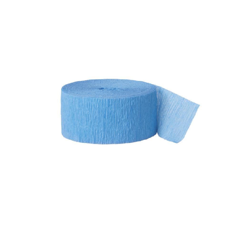 24 m ruban papier crépon bleu